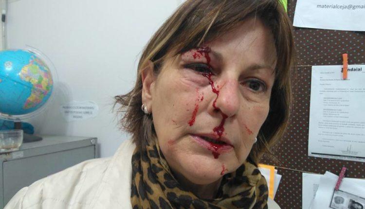 INACEITÁVEL: Professora pede que aluno saia da sala e é agredida e jogada na parede