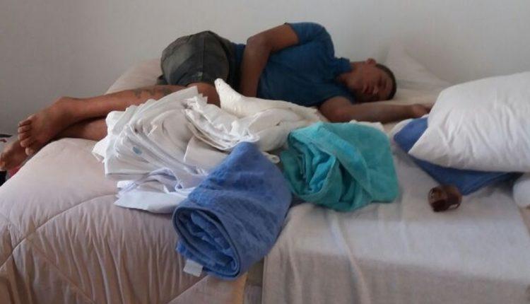 QUEM AGUENTA? Ladrão invade apartamento e acaba dormindo no local