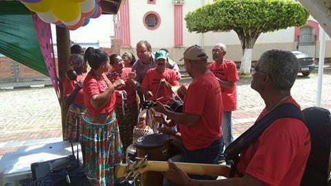 Sosthenes Campos parabeniza o Samba de Roda