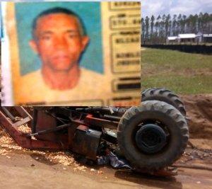Acidente de Trabalho: Tratorista morre após virar maquina