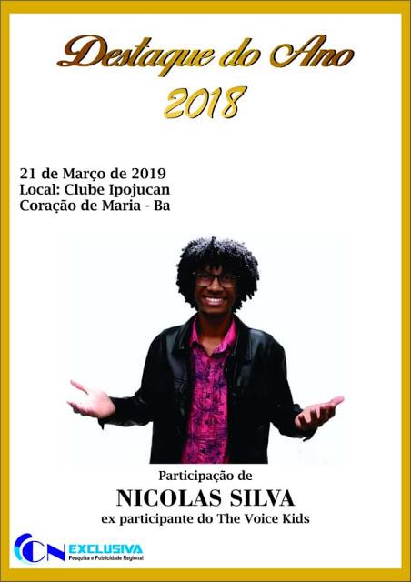 """Coração de Maria: Evangelista Gás receberá o prêmio """"Destaque de 2018"""""""