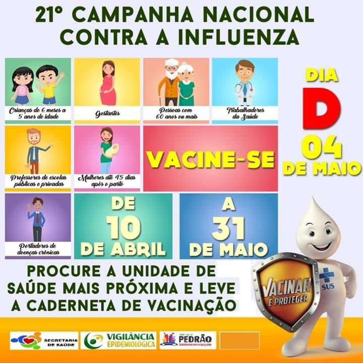 Campanha de vacinação em Pedrão.