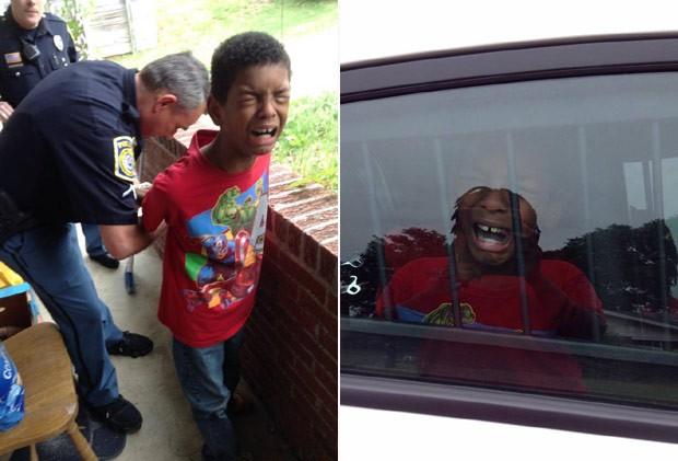 """Mãe chama policiais para simular prisão de filho bagunceiro de 10 anos: """"queria assustá-lo"""""""