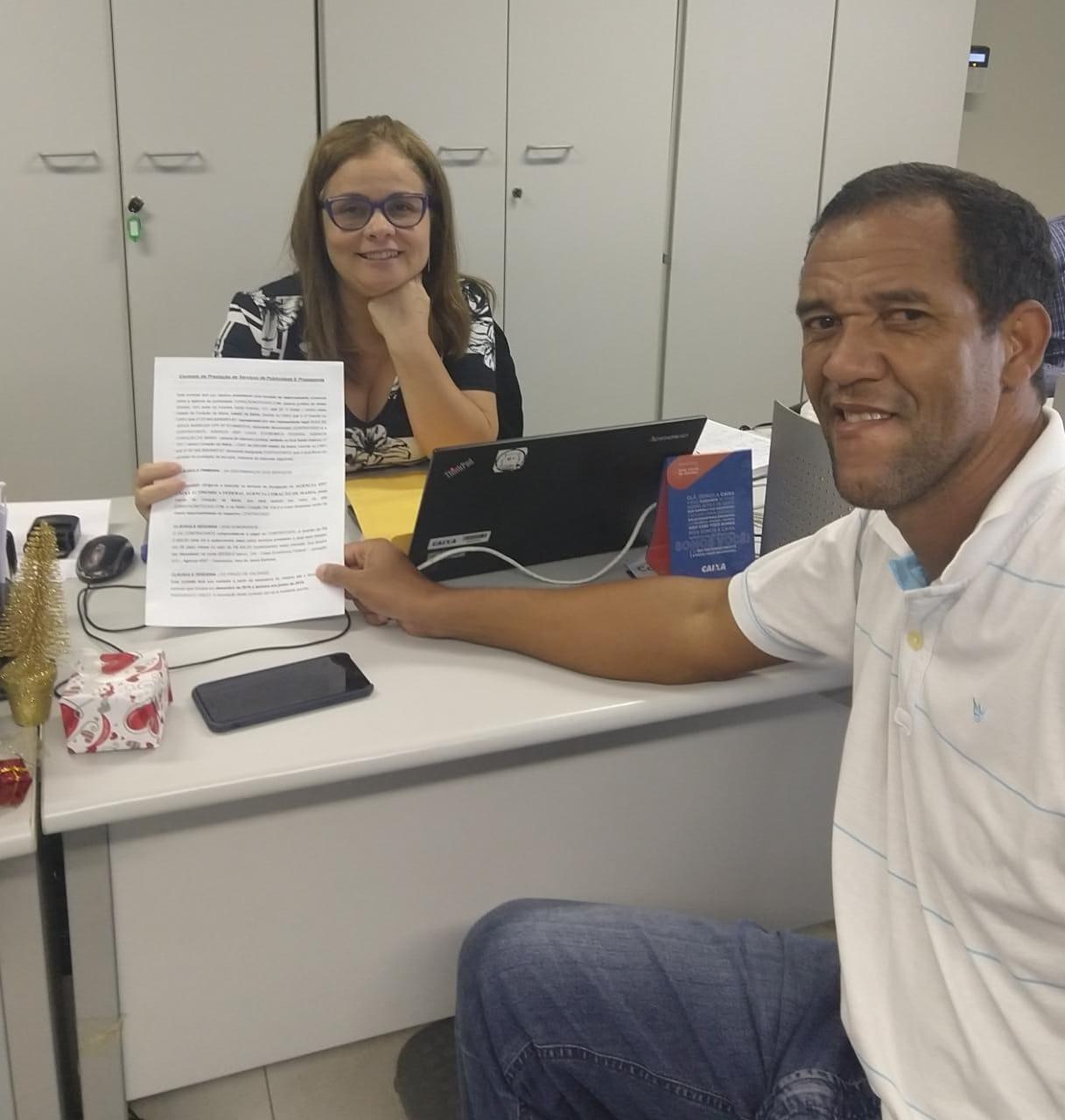 Site Coração Notícias de Alex Barbosa e Rádio  WEB Coração Noticias fecham parceria com a Agencia da Caixa Econômica em Coração de Maria .