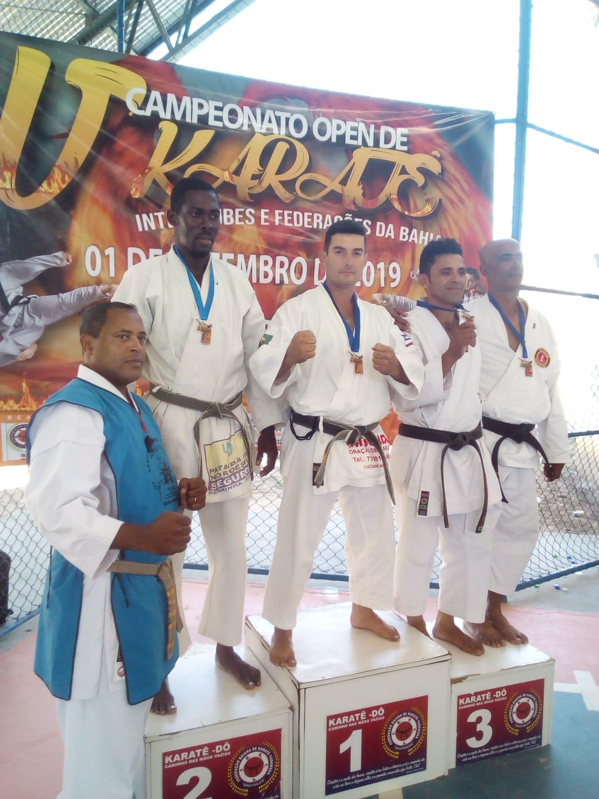 Campeonato Open de Karatê, atleta de Luciano de Coração de Maria garante 1º lugar
