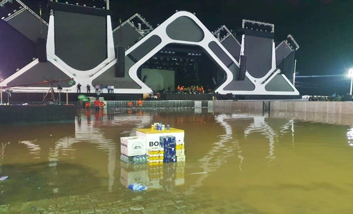 ENTROU ÁGUA: Após fortes chuvas, shows de Psirico e Wesley Safadão são cancelados no Festival Virada