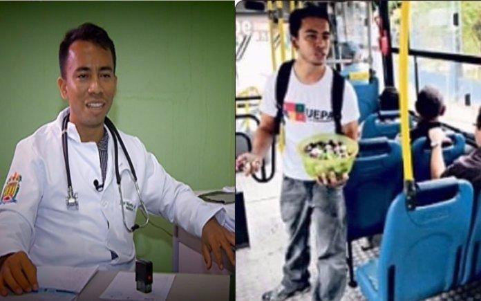 Estudante que vendia bombons no ônibus para pagar faculdade se forma em medicina