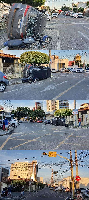 Dois veículos colidem em cruzamento no bairro Kalilândia em Feira de Santana