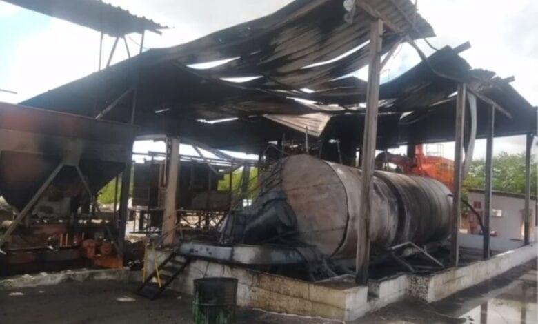 BERIMBAU: Operário teve 50% do corpo queimado após explosão em pedreira