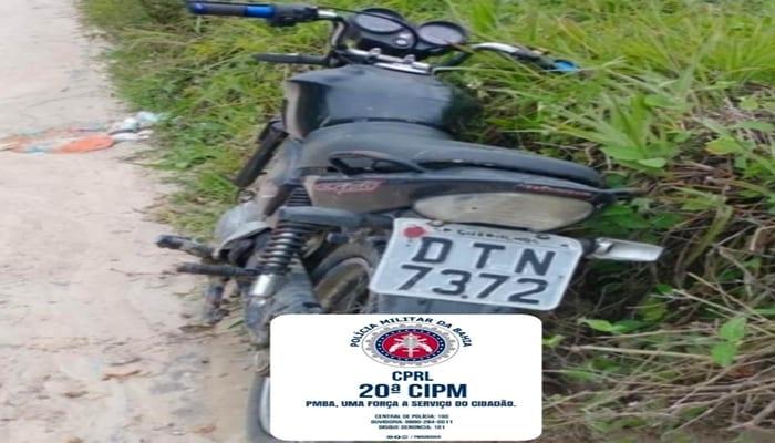 PRONTIDÃO: PM de Coração de Maria recupera motocicleta que havia sido roubada em Conceição do Jacuípe