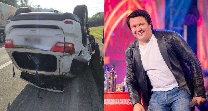 SUSTO! Cantor Giovani, da dupla com Gian, sofre acidente de carro em SP