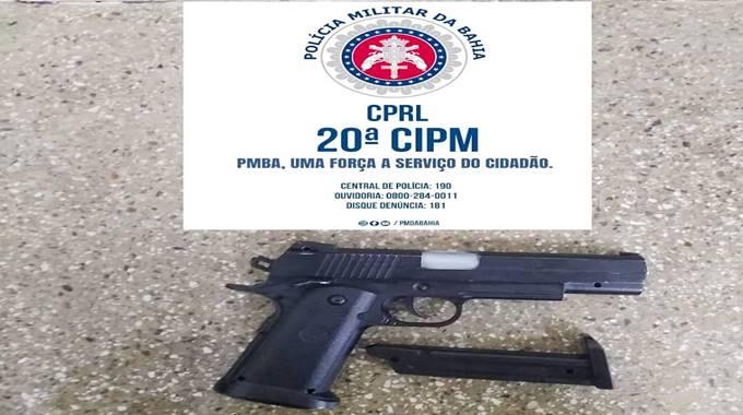 FIM DA BRINCADEIRA! Homem é preso com arma de brinquedo em Cabuçu