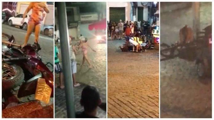 Mulher flagra marido com travesti em paredão de Maragogipe e surta
