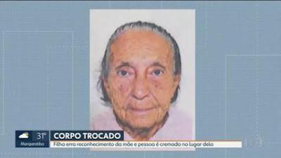 Família de idosa vítima de Covid no Rio descobre que cremou o corpo errado