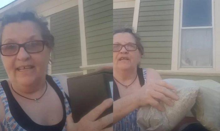 """Em vídeo, mulher joga cinzas do marido no lixo: """"Por toda a dor que ele me causou"""""""